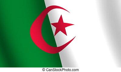 Waving flag Algeria