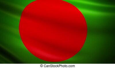 Waving Flag Bangladesh Punchy