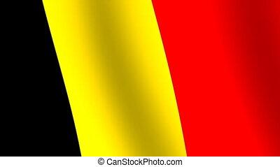 Waving flag Belgium