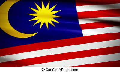 National flag of Malaysia waving in the wind - background animation for home videos, vacation movies, business presentation and DVD or Blu-ray disc menus