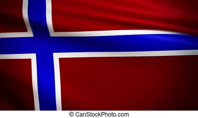 Waving Flag Norway Punchy
