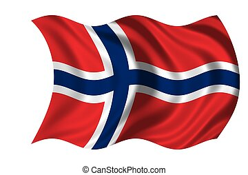 Waving flag Norway