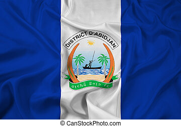 Waving Flag of Abidjan, Ivory Coast