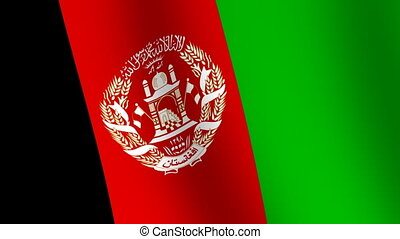 Waving flag of Afghanistan