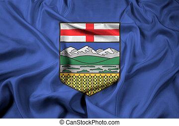 Waving Flag of Alberta Province, Canada