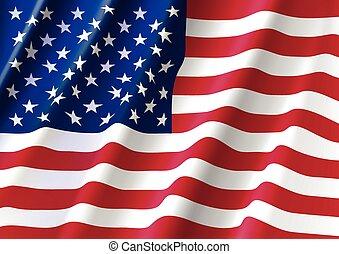 Waving Flag of America - Waving Flag of United States of...