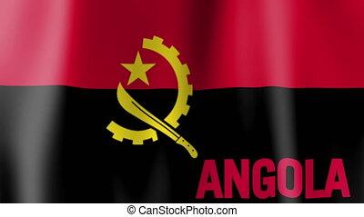 Waving Flag of Angola shot clip
