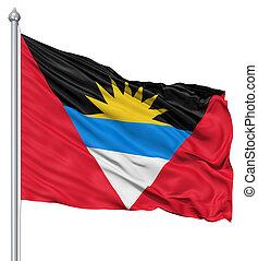 Waving flag of Antigua and Barbuda