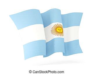 Waving flag of argentina. 3D illustration