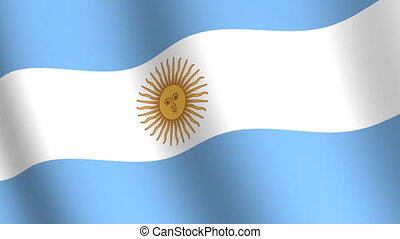 Waving flag of Argentina
