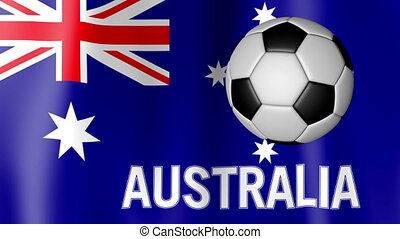 Waving Flag of Argentina with football - Animation of the...