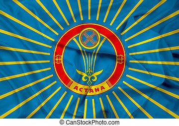 Waving Flag of Astana
