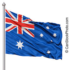 Waving Flag of Australia - Realistic 3d flag of Australia...