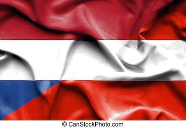 Waving flag of Austria and Netherlands - Waving flag of ...