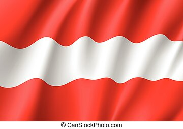 Waving flag of Austria state.