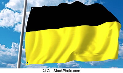 Waving flag of Baden-Wurttemberg a state of Germany