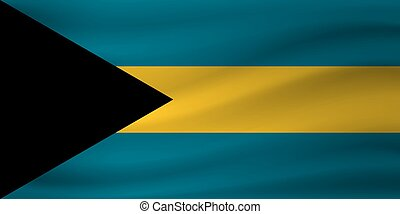 Waving flag of Bahamas. Vector illustration