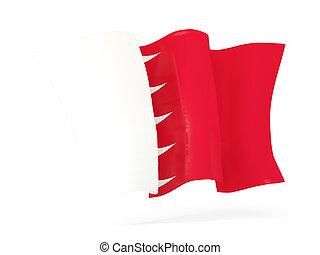 Waving flag of bahrain. 3D illustration