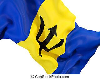 Waving flag of barbados