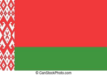 Waving flag of Belarus state