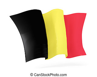 Waving flag of belgium. 3D illustration