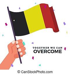 Waving flag of Belgium