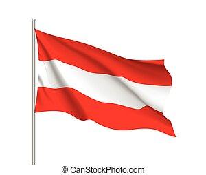 Waving flag of Belgium state.