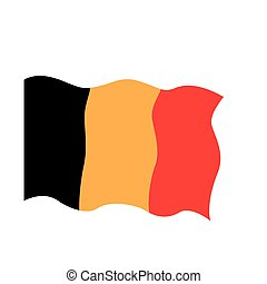 Waving flag of Belgium