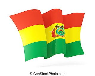 Waving flag of bolivia. 3D illustration