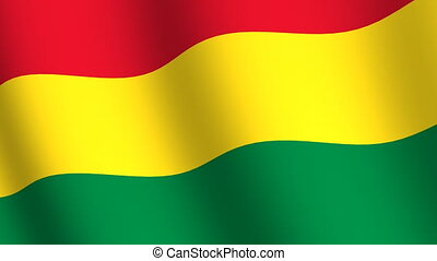 Waving flag of Bolivia