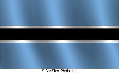 Waving flag of Botswana Vector illustration