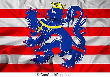 Waving Flag of Bruges, Belgium
