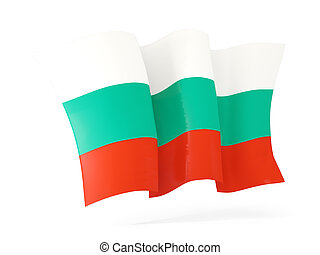Waving flag of bulgaria. 3D illustration
