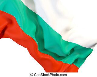 Waving flag of bulgaria