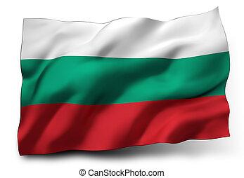Waving flag of Bulgaria isolated on white background