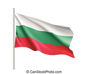 Waving flag of Bulgaria state
