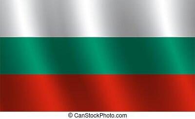 Waving flag of Bulgaria Vector illustration