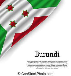 waving flag of Burundi