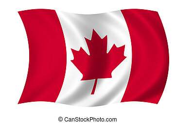 flag of Canada - waving flag of Canada - canadian flag