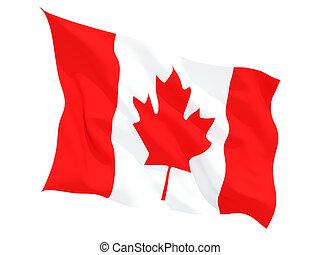 Waving flag of canada