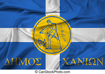 Waving Flag of Chania, Greece