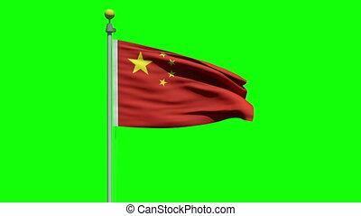 Waving flag of China