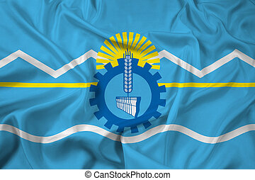 Waving Flag of Chubut Province, Argentina
