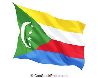 Waving flag of comoros