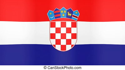 Waving Flag of Croatia Looping Background
