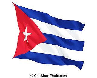 Waving flag of cuba