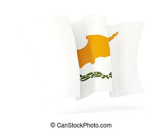 Waving flag of cyprus. 3D illustration