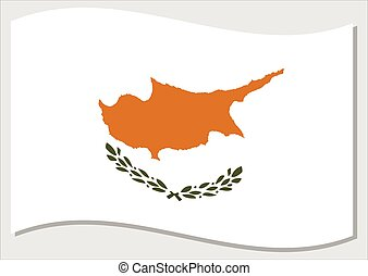 Waving flag of Cyprus vector graphic. Waving Cypriot flag illustration. Cyprus country flag wavin in the wind is a symbol of freedom and independence.