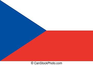 Waving flag of Czech Republic