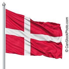 Waving flag of Denmark